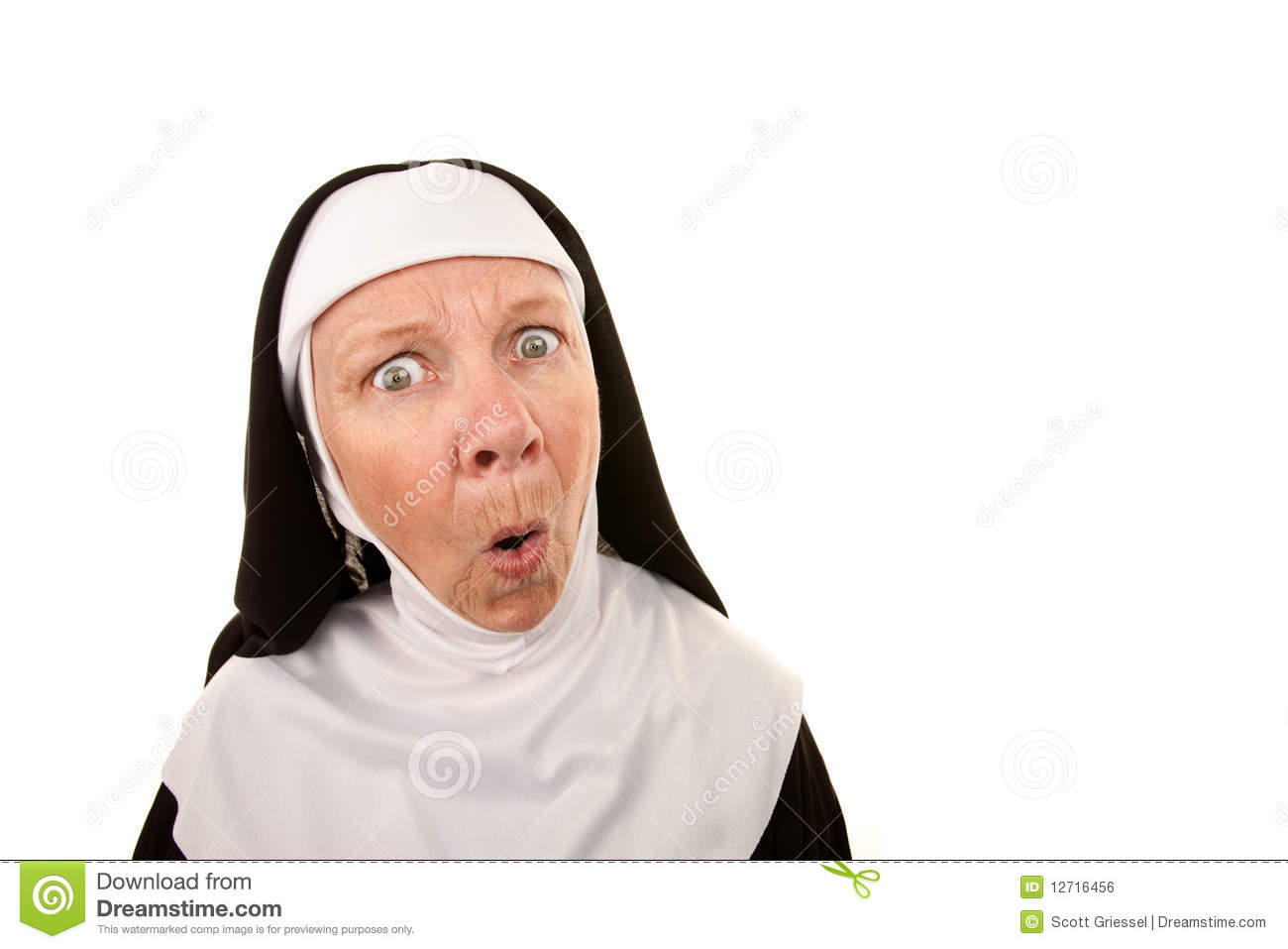Singing Nun Clipart Funny Nun Royalty Free Stock