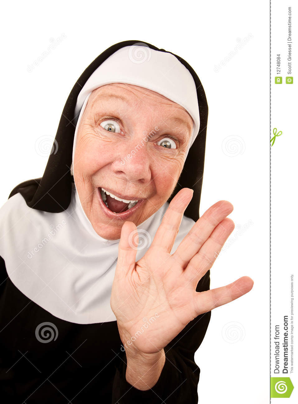 Singing Nun Clipart Funny Nun With Happy