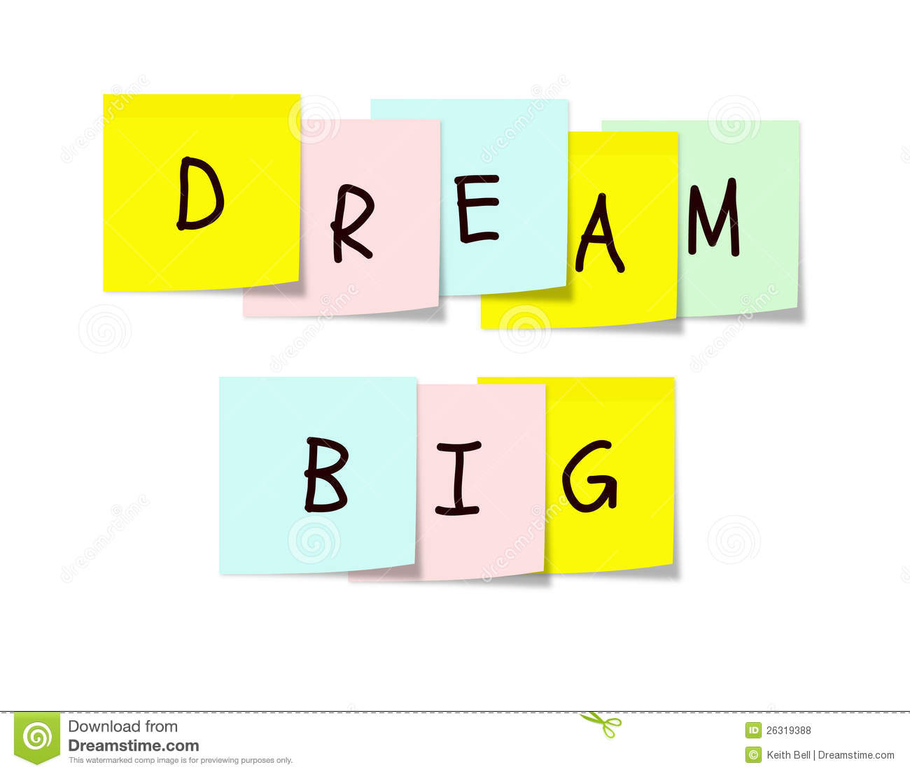 Dream Big Clip Art