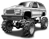 4x4 Truck Stock Illustrations   Gograph