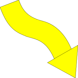 Arrow Wavy Down Right Yellow   Http   Www Wpclipart Com Signs Symbol