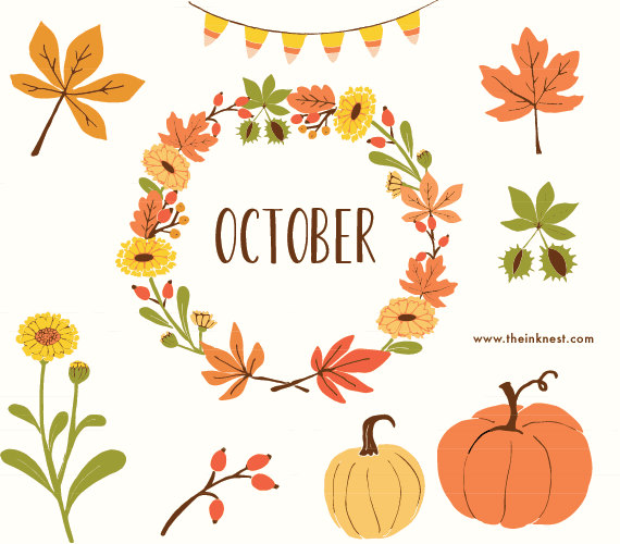 Clip Art   October   For Commercial And Personal Use