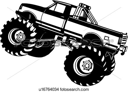 Clipart    Monster Truck 4x4   Fotosearch   Search Clip Art
