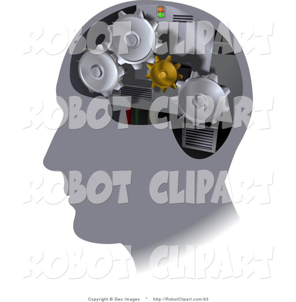 Clipart Of Turning Gears Inside A Human Head By Geo Images    63