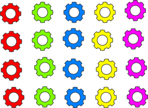 Colorful Gears Clip Art At Clker Com   Vector Clip Art Online Royalty