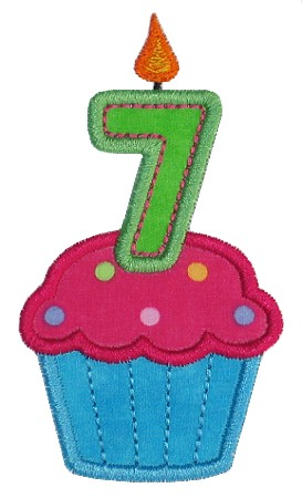 Gg Designs Embroidery   Cupcake Seven Applique  Powered By Cubecart