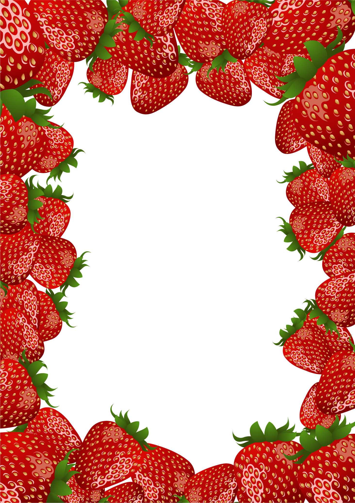 Go Back   Images For   Strawberry Clipart Border