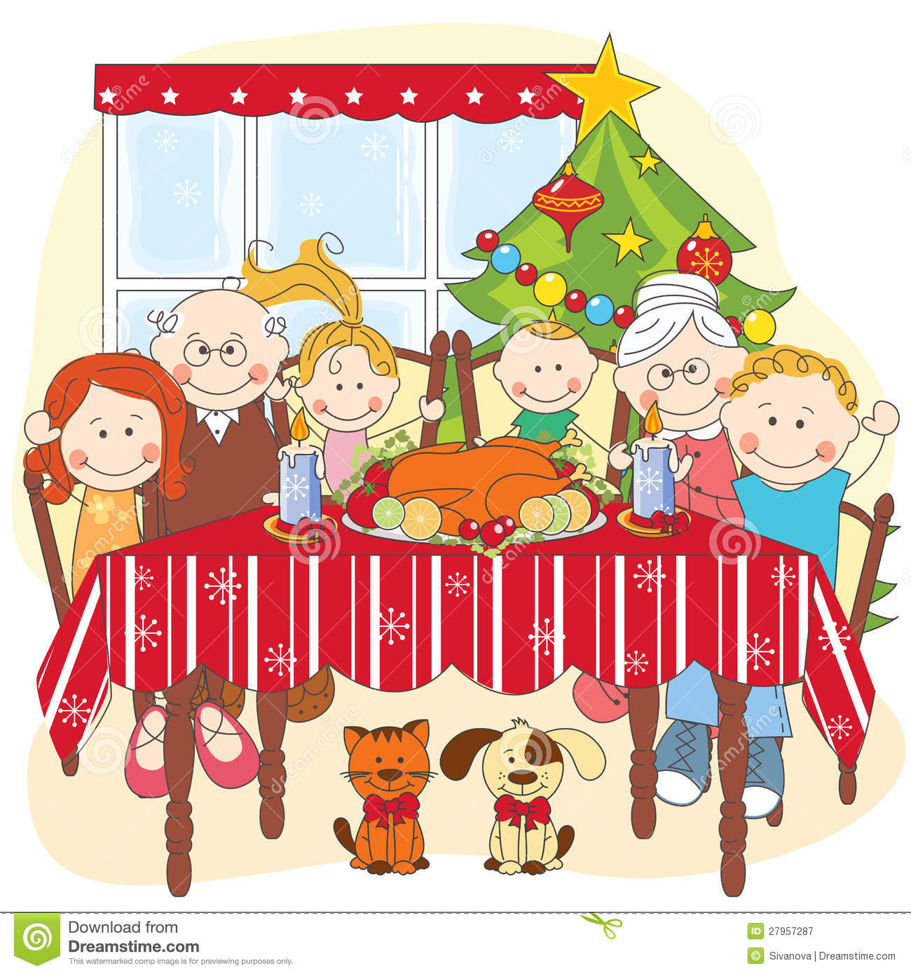 Christmas Family Clipart - Clipart Suggest
