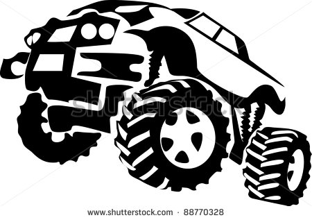 Monster Truck Stock Vector 88770328   Shutterstock