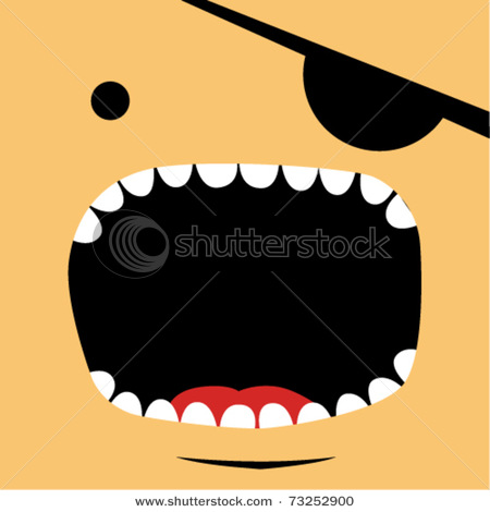 Mouth Open Wide Yelling At Someone In A Vector Clipart Illustration