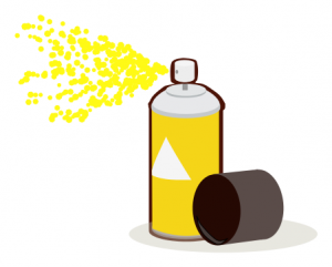 Paint Can Spray Yellow Clipart