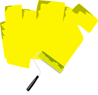 Paint Roller Sign Yellow   Http   Www Wpclipart Com Blanks Assorted