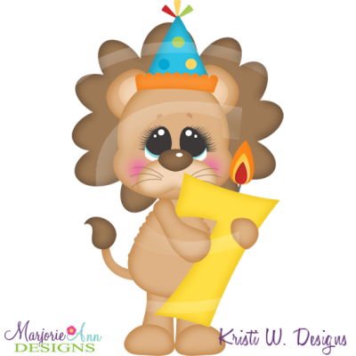 Party Animal 7th Birthday Cutting Files Includes Clipart    1 50