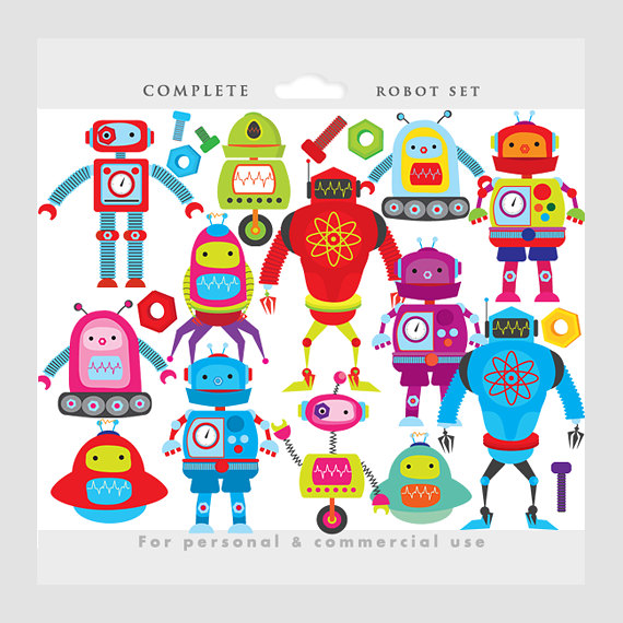 Robot Gears Clipart - Clipart Kid
