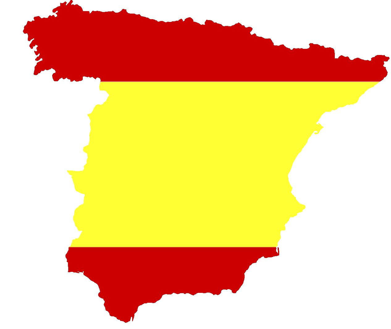 Silhouet Spain With Flag Png ...