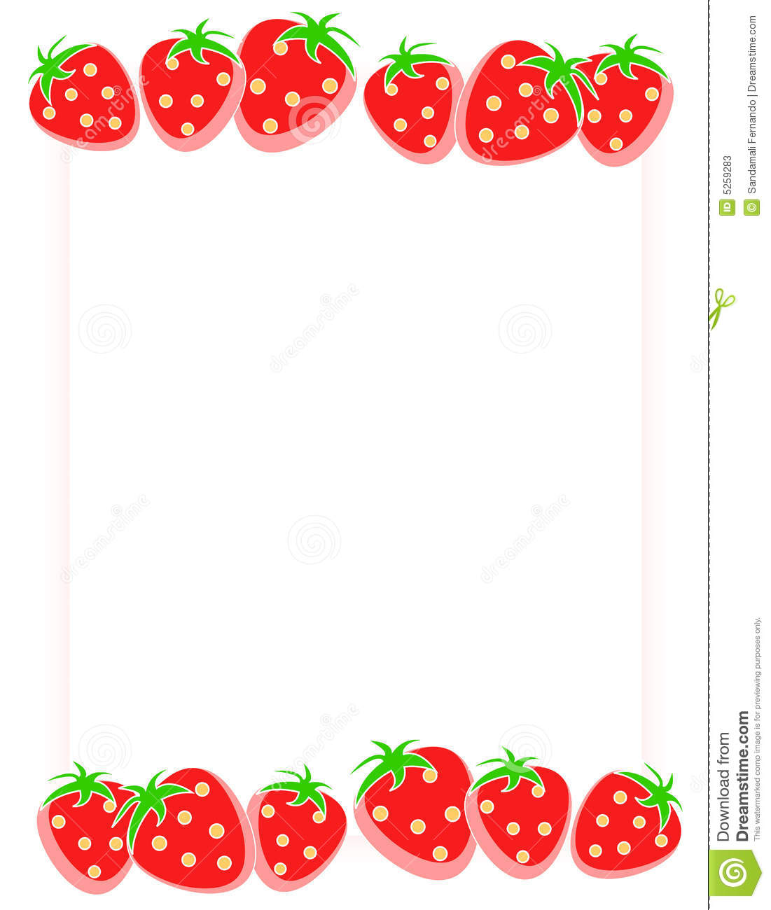 Strawberries Border Clip Art Images   Pictures   Becuo