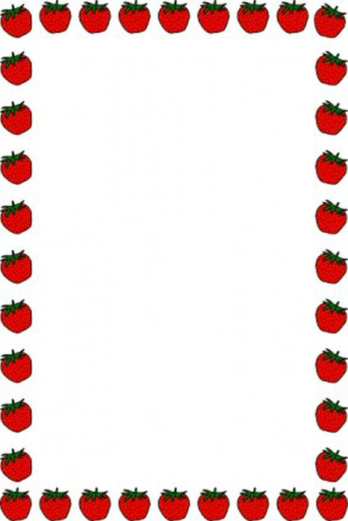 Strawberry Border Clip Art   Free Vector Download   Graphicsmaterial