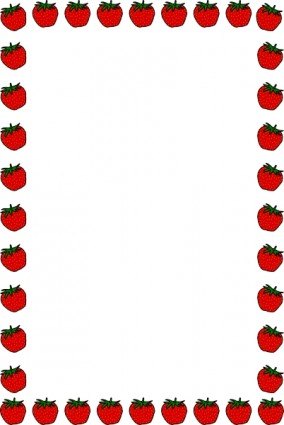 Strawberry Border Clip Art Free Vector In Open Office Drawing Svg