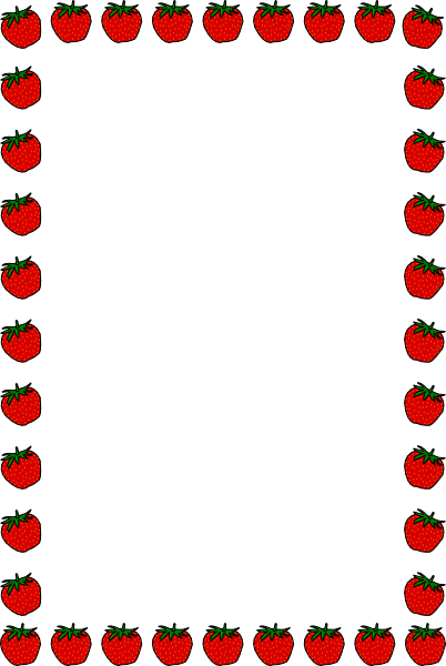 Strawberry Border Clipart - Clipart Suggest