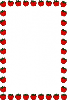 Strawberry Border Clip Art Vector Free Vector Graphics   Vector Me