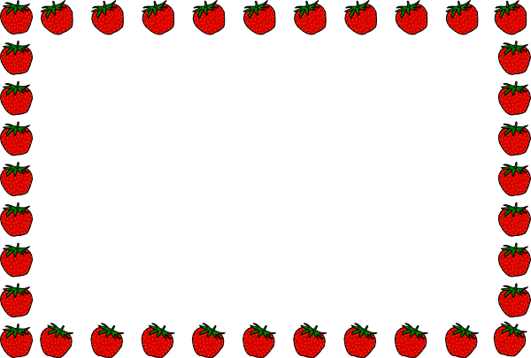 Strawberry Border Lezece Clip Art At Clker Com   Vector Clip Art