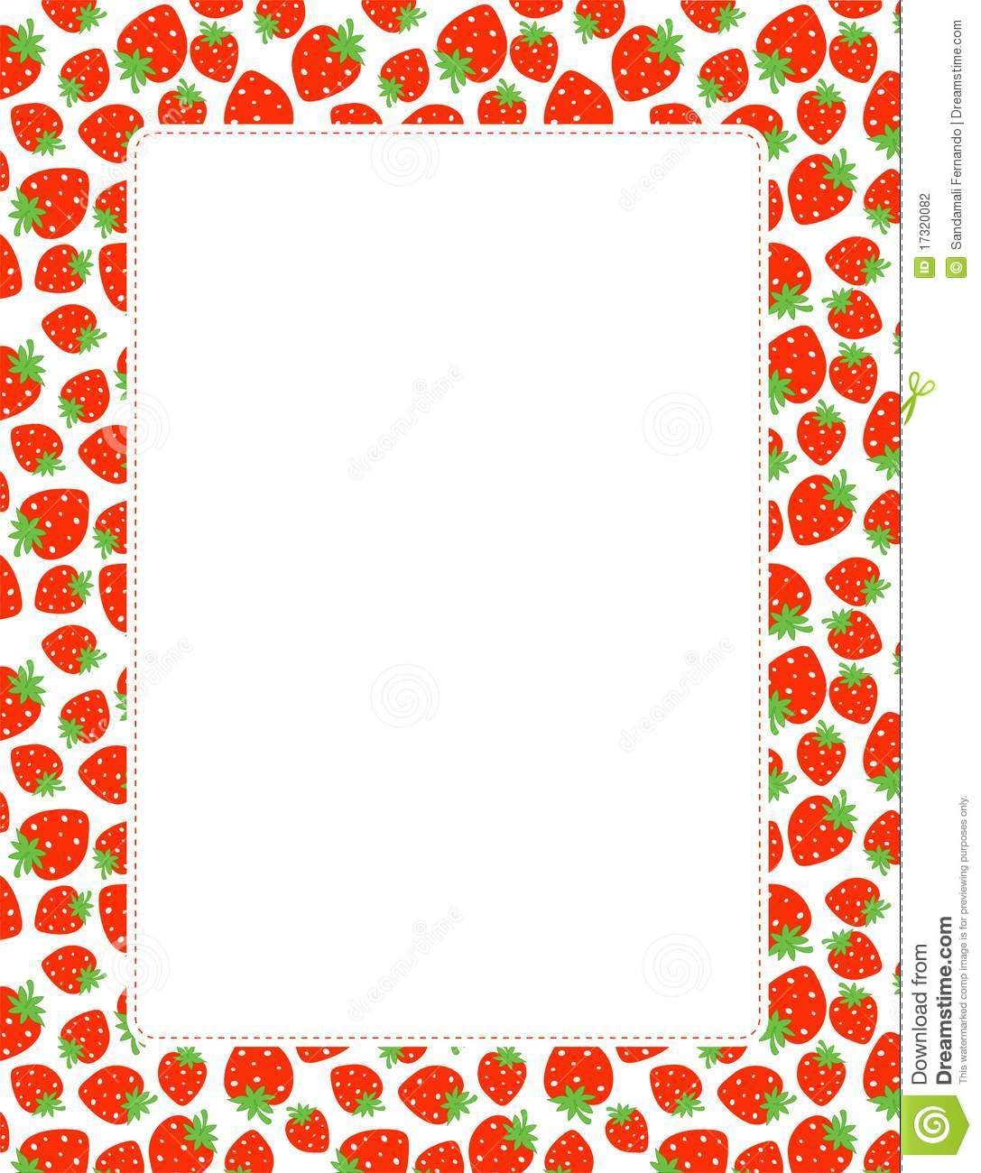 Strawberry Border Stock Photography   Image  17320082