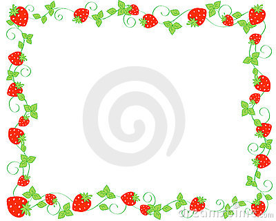 Strawberry Clipart Border   Clipart Panda   Free Clipart Images