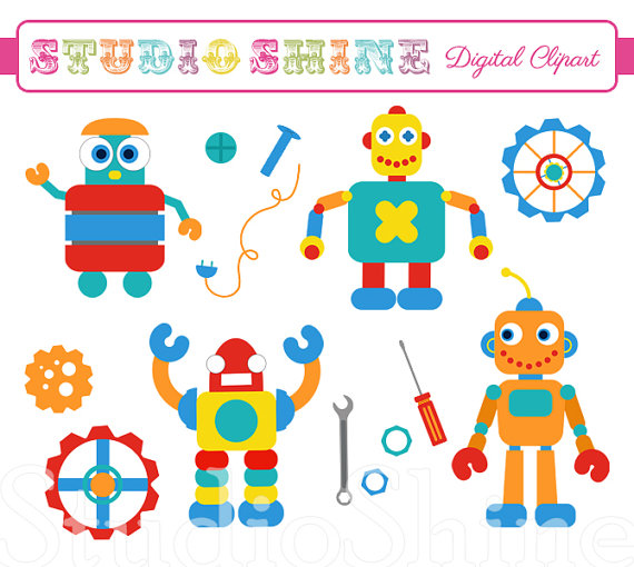 Unavailable Listing On Etsy: Robot Gears Clipart