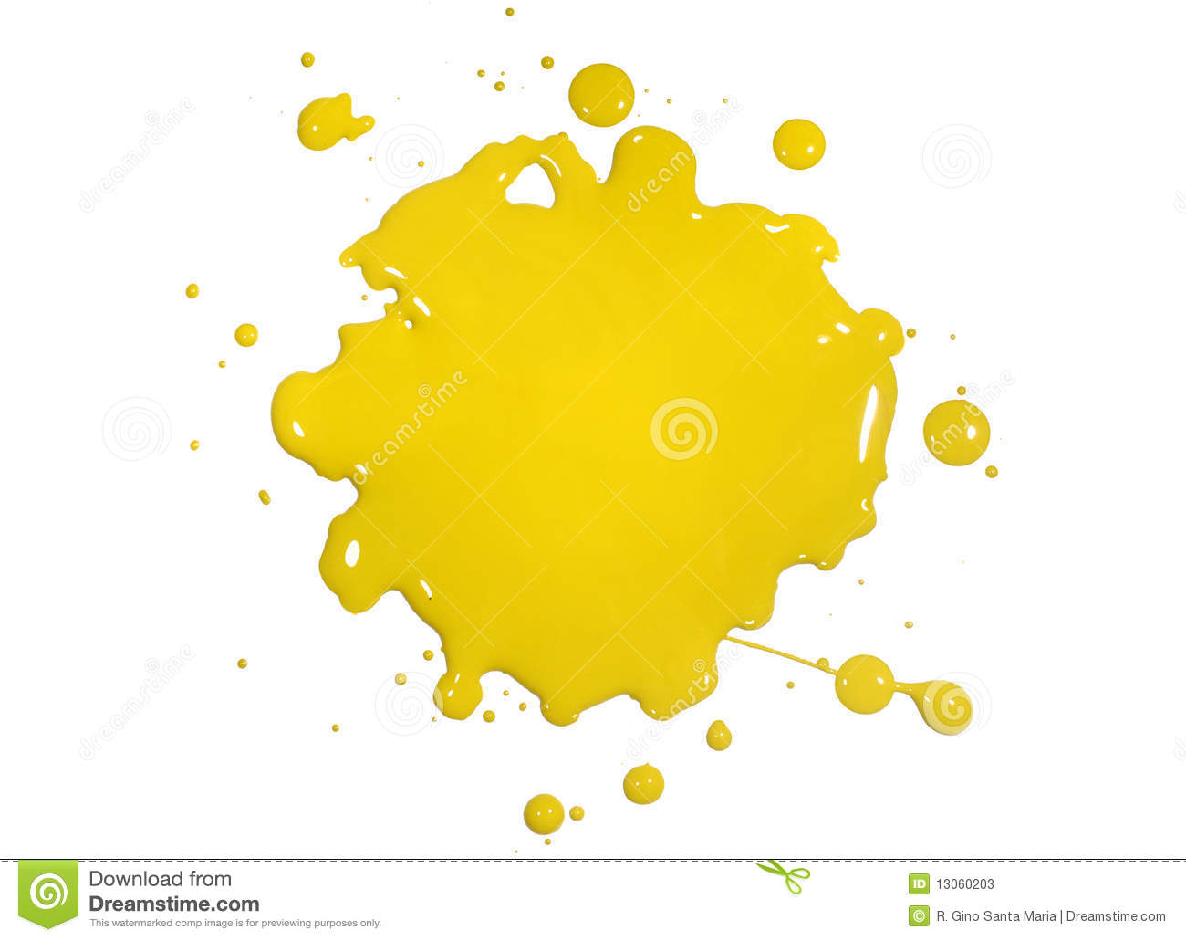 Yellow paint clipart clipart suggest for White paint going yellow