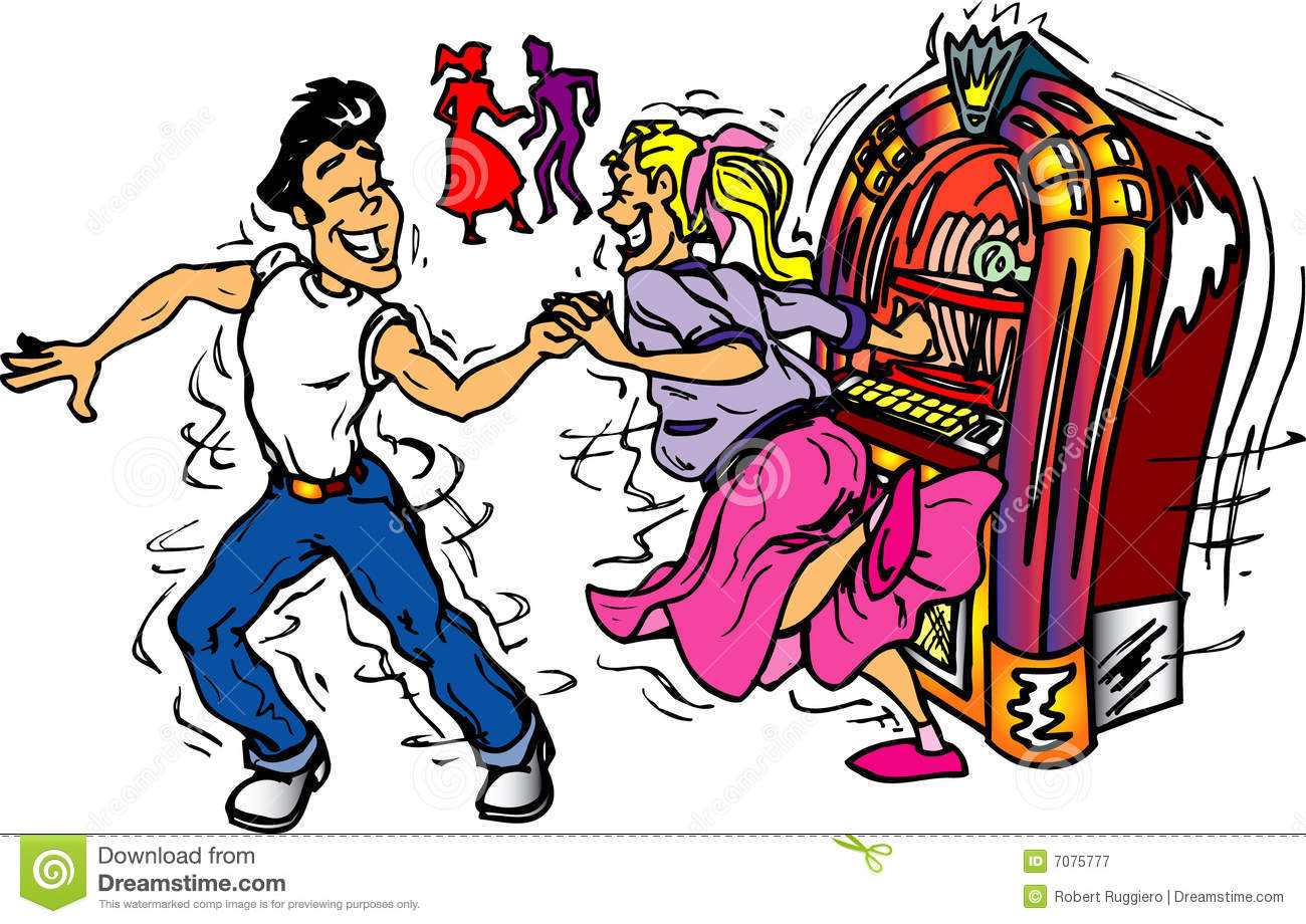 1950s Dancers Royalty Free Stock Photography   Image  7075777