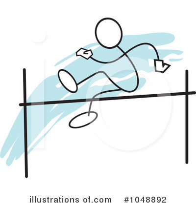 Art High Jump  Cached High Isolated Track And High Royalty Free Clip