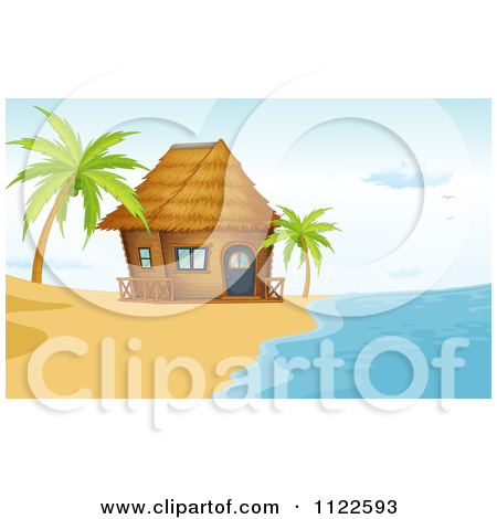 Cartoon Beach Shack Animated On The Beach Hut Clipart Clipart Kid