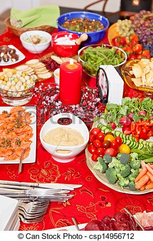 Christmas party food clipart