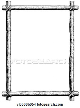Clipart   Tied Log Border  Fotosearch   Search Clipart Illustration