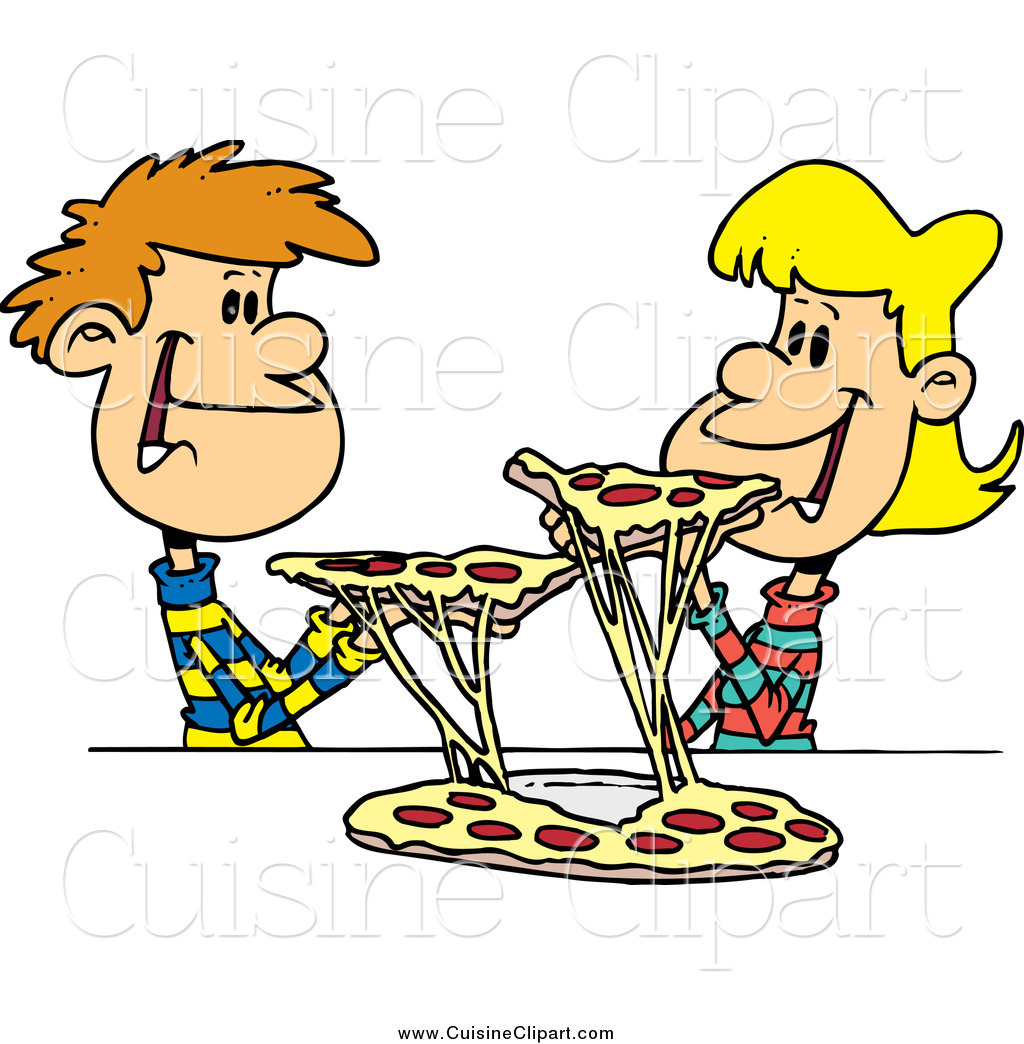 Clip Art Sharing Clipart sharing clipart kid cuisine of a young couple pizza by ron leishman