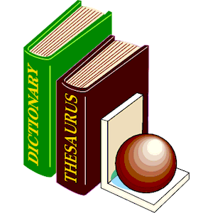 Dictionary   Thesaurus 2 Clipart Cliparts Of Dictionary   Thesaurus 2