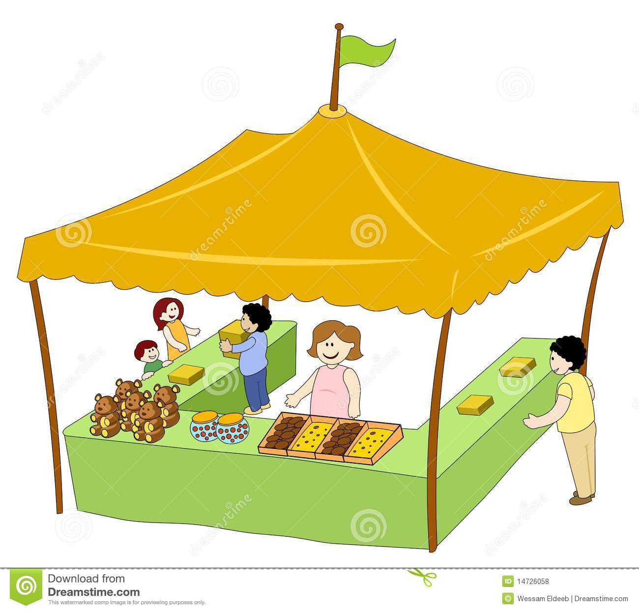 Food   Beverage Tent Royalty Free Stock Photos   Image  14726058
