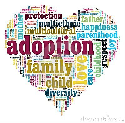 Heart With Most Common Words Regarding International Adoption