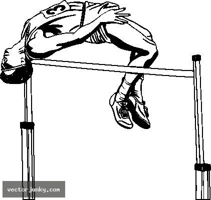 Image Gallery high jump cartoon
