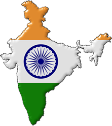 Indian Map Flag With Transparent Background