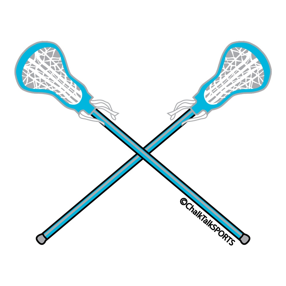 Lacrosse Tshirt Long Sleeve Mini Crossed Lacrosse Sticks