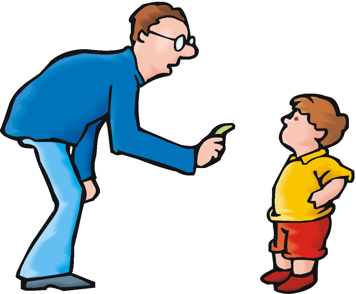 Toddler Discipline Clip Art