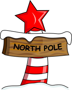 North Pole Clip Art Image  North Pole And Sign That Reads North Pole
