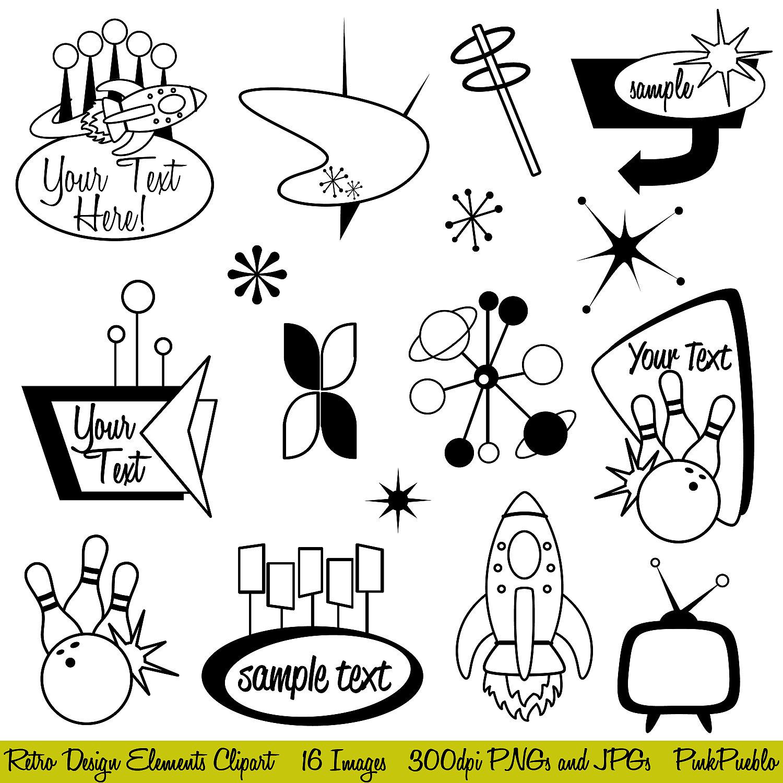 Clip Art 1950s Clip Art 1950s clipart kid retro clip art mod or vintage by pinkpueblo