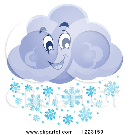 Royalty Free  Rf  Snow Cloud Clipart Illustrations Vector Graphics