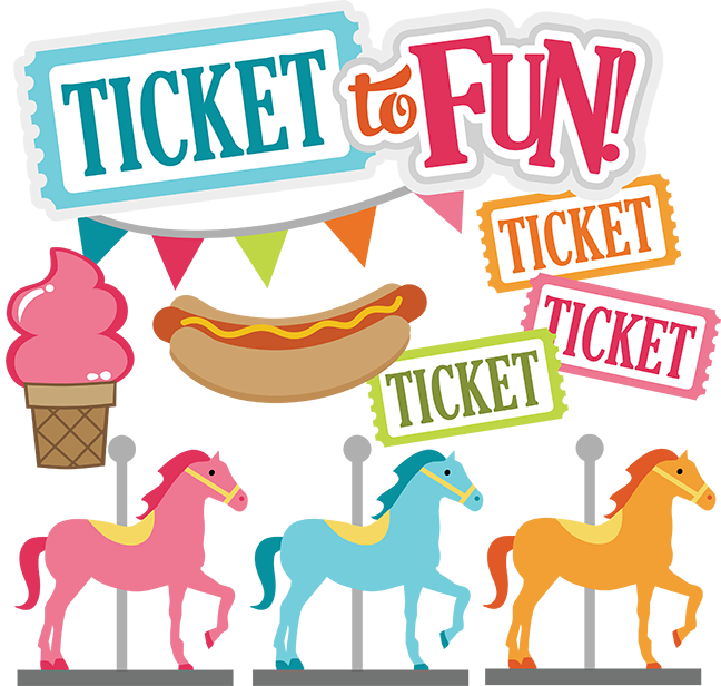 Ticket To Fun Svg Carnival Svg Files County Fair Svg Files Amuesment