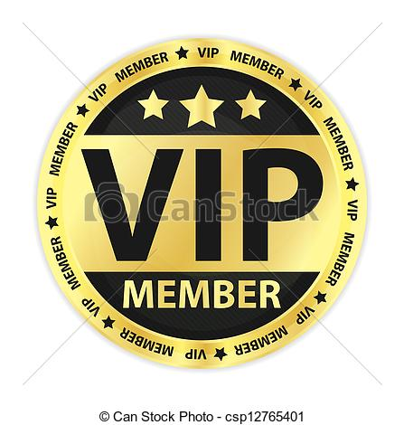 Vector Clipart Of Vip Member Golden Label   Vip Member Golden Label