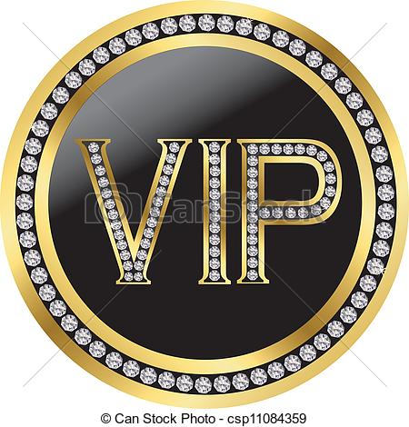 Vector   Vip With Diamonds Vector   Stock Illustration Royalty Free