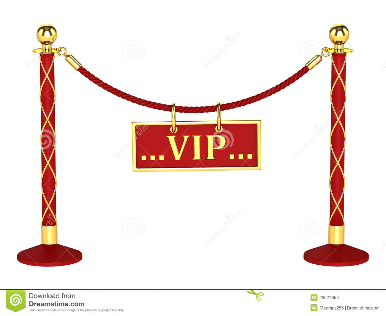 Velvet Rope Barrier With A Vip Sign Stock Photo   Image  23024350