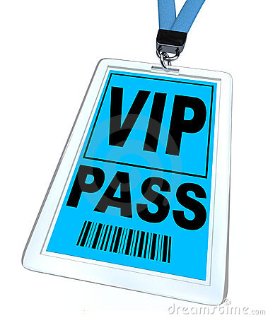 Vip Pass   Lanyard And Badge Stock Photo   Image  16243440